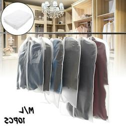 "10 Pack 32"" 40"" Garment Bag Suit Storage Cover Dress Clothes"