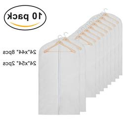 10pcs transparent garment bag suit dress overcoat