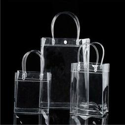 1 PC Transparant Clear Tote Handbag Gifts Packaging Bags Clo