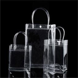 1PC Transparant PVC Gift Tote Packaging Bags Clear Plastic H