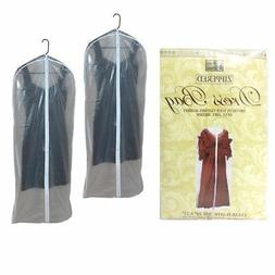 2 Dress Bags Garment Storage Bag Protective Suit Cover Gown
