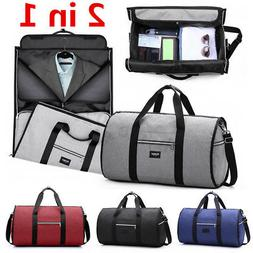 2 in 1 Business Travel Garment Bag Carry On Suit Outdoor Lug