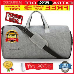 2 in 1 Convertible Travel Garment Bag Carry On Suit Cover Ba