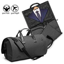 2 In 1 Garment Bag With Shoulder Strap, Convertible Suit Tra