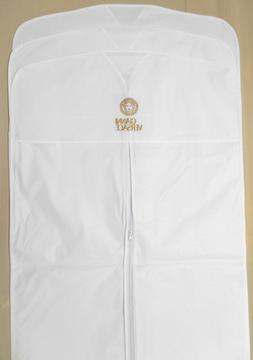 "3 VERSACE Garment Bags White VINYL 22""x38"" for Suit Shirt Tr"