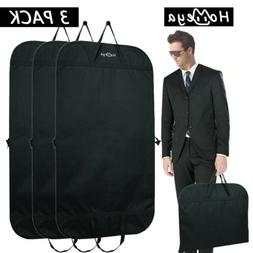 3* Garment Bag Cover Suit Zipper Storage Dust Protecor Trave