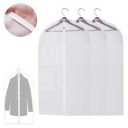"3 Garment Bag Travel Suit Dress Storage 53"" Clear Cover Full"