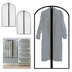 """3 Pack Travel Garment Bag Suit Dress Storage 35"""" Clear Cover"""