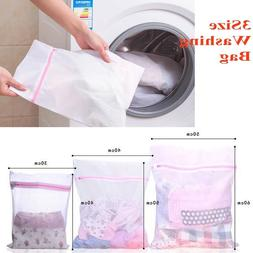 3 Size Mesh Laundry Bags - Small Large Wash Bag for Bra Deli