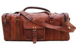 30 Inch Leather large vintage duffel travel gym weekend over