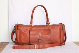 """30"""" Mens Genuine Leather Garments Large Capacity Travel Lugg"""