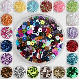 3mm 4mm 5mm 6mm Sequin Flat Round Loose Sequins Crafts Paill