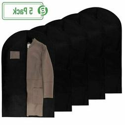40 Inch Garment Bags Travel Storage Black Non Woven Fabric C