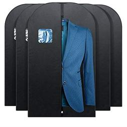 5 Pack Garment Bag Suit Coat Hanging Storage Cover Dustproof