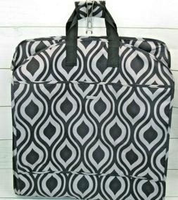 WallyBags 52 Inch Fashion Garment Bag with Pockets  New Blac
