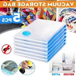 5pcs Heavy Duty Vacuum Seak Storage Bags Space Saver Garment