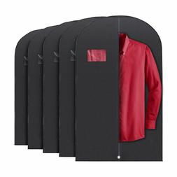 5x Black PLX Hanging Garment Bags Storage Travel Suit Bag Dr