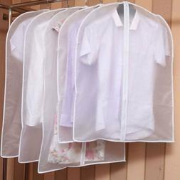 5x Clear Dustproof Dress Clothes Cover Suit Dress Garment Ba
