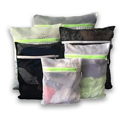 6 Mesh Laundry Wash Bags-1 XL, 2 large, 2 medium & 1 small f