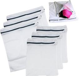 6 Pack Laundry Bra Lingerie Mesh Wash Bag & free zippers 3 L