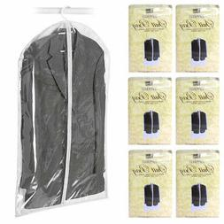 "6X Suit Garment Storage Bags 40"" Protective Jacket Cover Top"