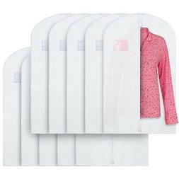 "Breathable 40"" White Garment Bags Storage of Suits & Dress"