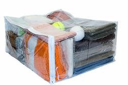 Clear Vinyl Zippered Storage Bags 24 x 20 x 11 Inch 5-Pack