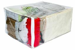Clear Vinyl Zippered Sweater Storage Bags 17 x 20 x 10 Inch