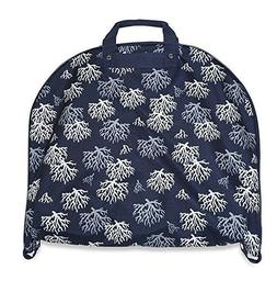 Ever Moda Blue and White Coral Hanging Garment Bag 40""