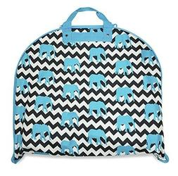 Ever Moda Elephant   Ziz Zag Handing Garment Bag  Teal an