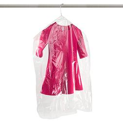 Hangerworld Clear Polythene Garment Clothes Bags with Gusset