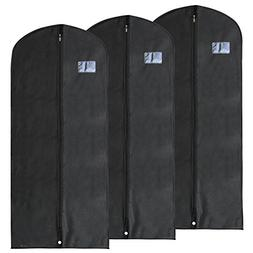 Hangerworld Pack of 3 Black Breathable Dress Suit Garment Cl