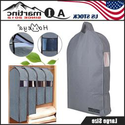 Large Hanging Garment Bag Suit Clothes Dustproof Cover Dress