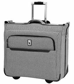 "London Fog Cambridge II 44"" Wheeled Garment Bag, Black White"