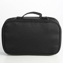 MUJI Garment & Cosmetic Bag Black NYLON Storage Easy For Tra