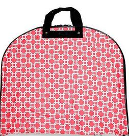 NEW HANGING GARMENT BAG LUGGAGE TRAVEL CHEER CORAL CHAIN LIN