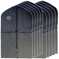"New 10 PCS Garment Bag for suit, dress black 40 "" w/ transpa"