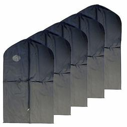 "New 5 PCS Garment Bag for suit, dress black 40 "" w/ transpar"