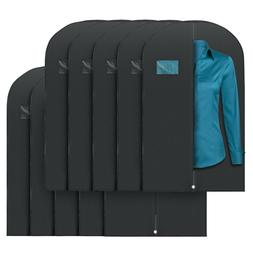 "Plixio 40"" Black Garment Bags for Breathable Storage of Su"