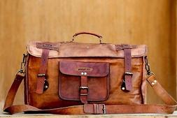 Real Leather Travel Luggage Garment Duffle Gym Bags Messenge