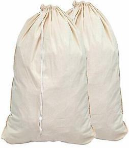 Simple Houseware 2 Pack - Extra Large Natural Cotton Laundry