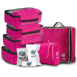Travel Organizer Set for Luggage & Suitcase - Packing Cubes,