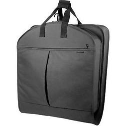 "WallyBags Luggage 52"" Garment Bag with Pockets, Black"