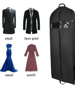 """Black 60"""" Gusseted Travel Garment Bag With Accessories Zippe"""