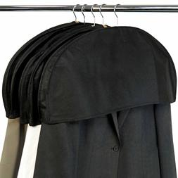 HANGERWORLD Pack of 5 Black Breathable Shoulder Covers - Dus