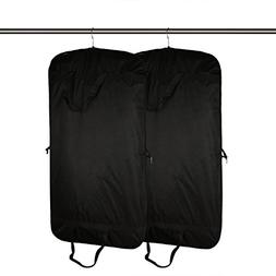 Aonepro Premium Quality Black Garment Bag Covers Set of 2 Fe