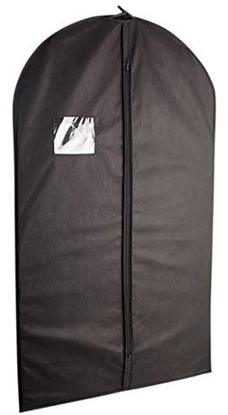 AfterGen 40 Inch Black Garment Bag with Transparent Window S