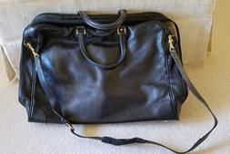 COLE HAAN Black LEATHER GARMENT BAG - rarely used condition!