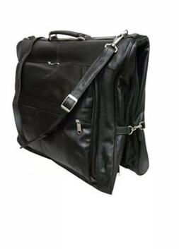 Amerileather Black Leather Garment Bag