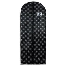 "Hangerworld Black Polka Dot Breathable 60"" Suit or Dress Gar"
